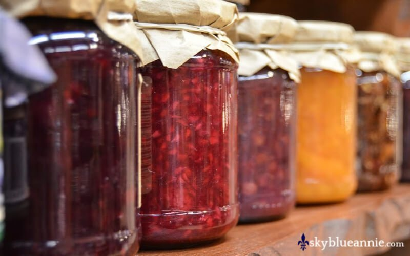 Jam in jars. Build Your Storehouse.