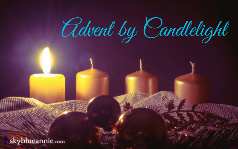 Advent by Candlelight - one candle lit