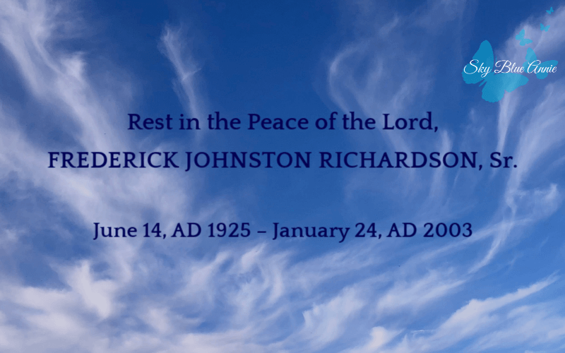 Rest in Peace, Fred Richardson The Darkest Day