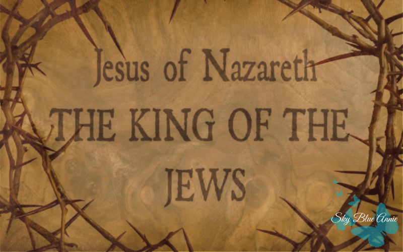 Sign: Jesus of Nazareth, The King of the Jews. Crown of thorns.