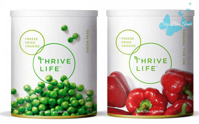 THRIVE Freeze-Dried Peas and Red Bell Peppers