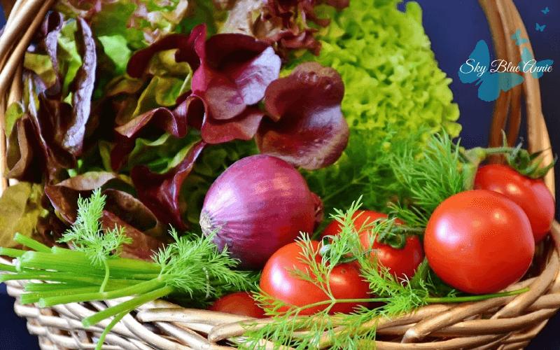 Basket Full Of Salad Vegetables